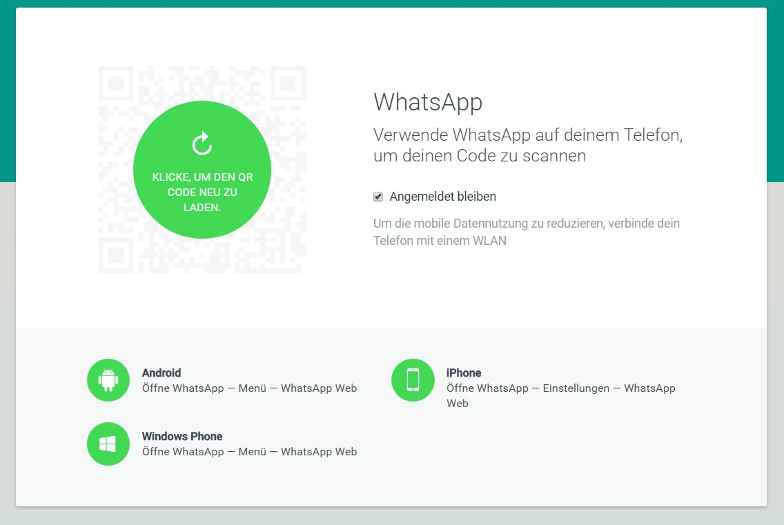 Whatsapp im Web Screenshot HAAG Kommunikationsdesign|Webdesign München