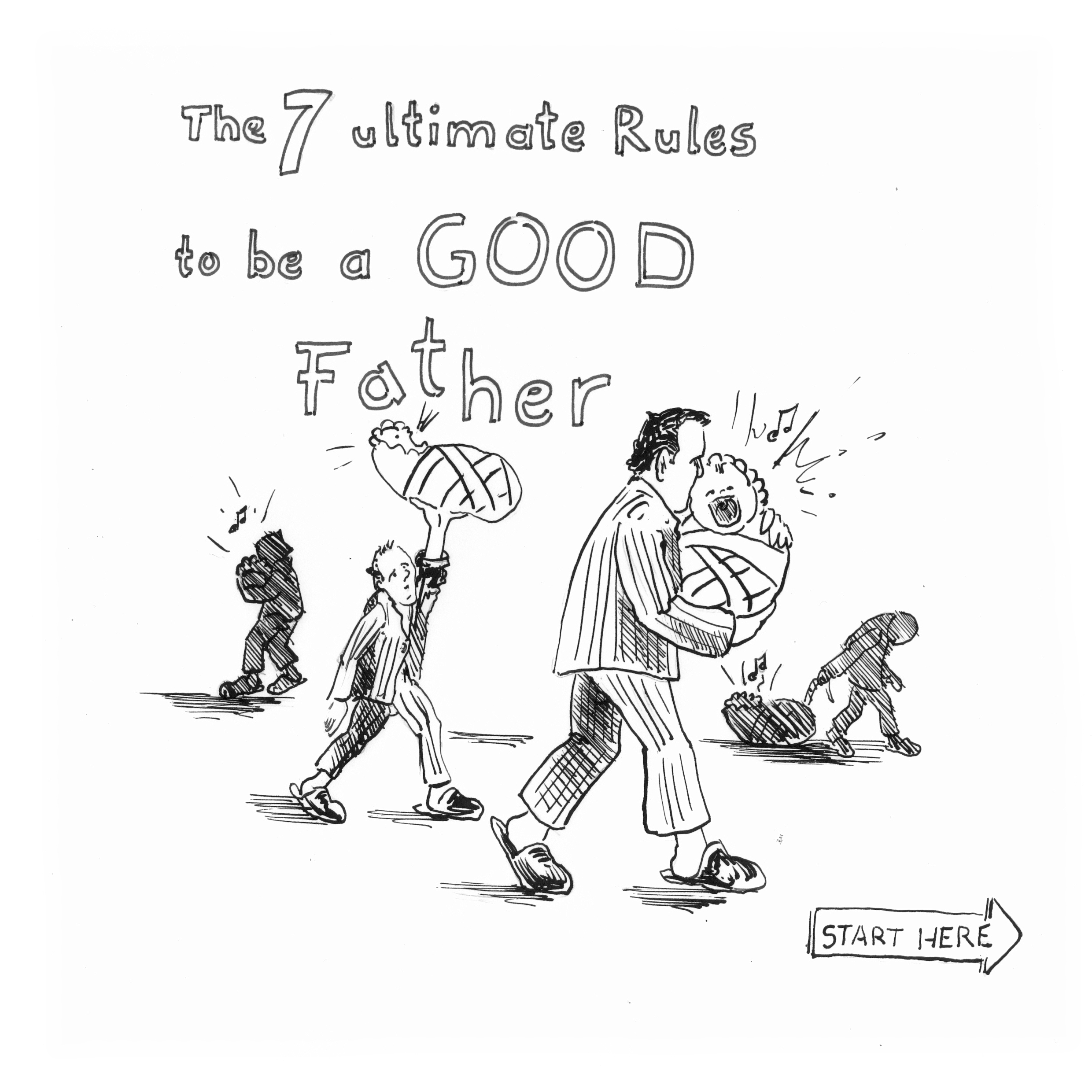 to be a good father, Illustration von HAAG Kommunikationsdesign Webdesign Grafikdesign